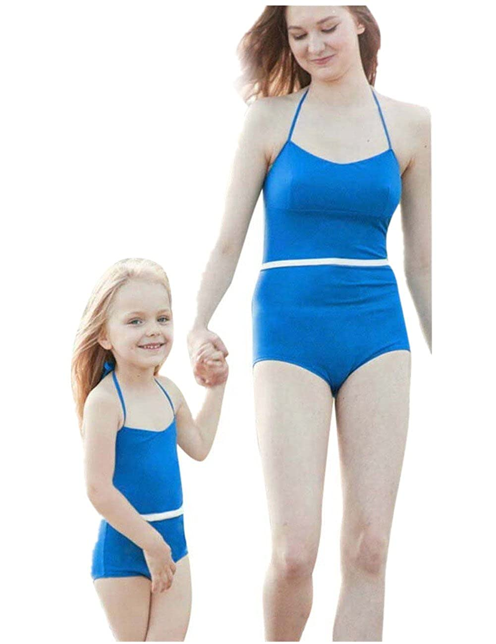 15955268c3f8a Amazon.com  Sunward Summer Mommy and Me Family Swimsuit One Piece Swimwear  Bathing Bikini Beachwear  Clothing