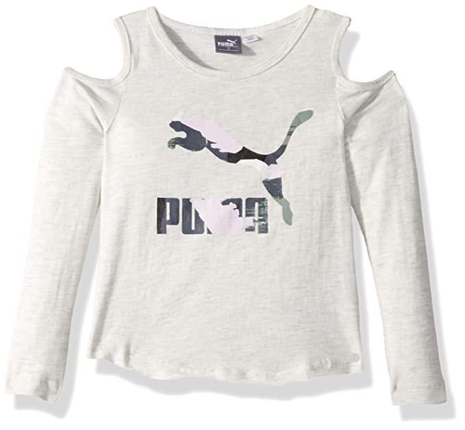 7181c8a14c910 Puma Little Girls  Cold Shoulder T-Shirt  Amazon.in  Clothing   Accessories