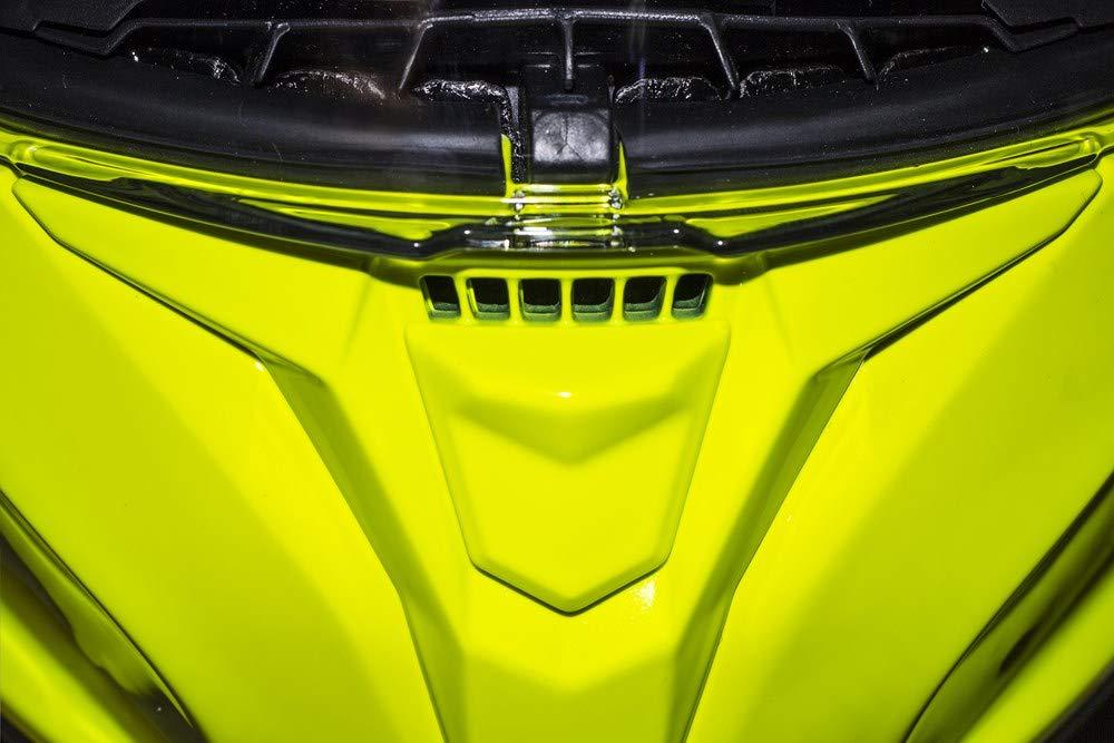MT 59-60 cm Casco Integral Modelo Targo SOLID A3 Amarillo Fluor L