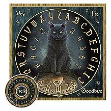 Lisa Parker His Masters Voice Black Cat Mystical Talking Spirit Ouija Board w/ Planchette by Nemesis Now