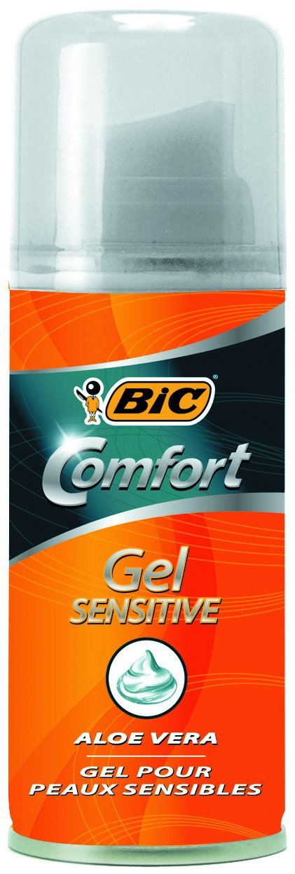 BIC Comfort Men's Sensitive Travel size Shaving Gel, 75 ml 8731673