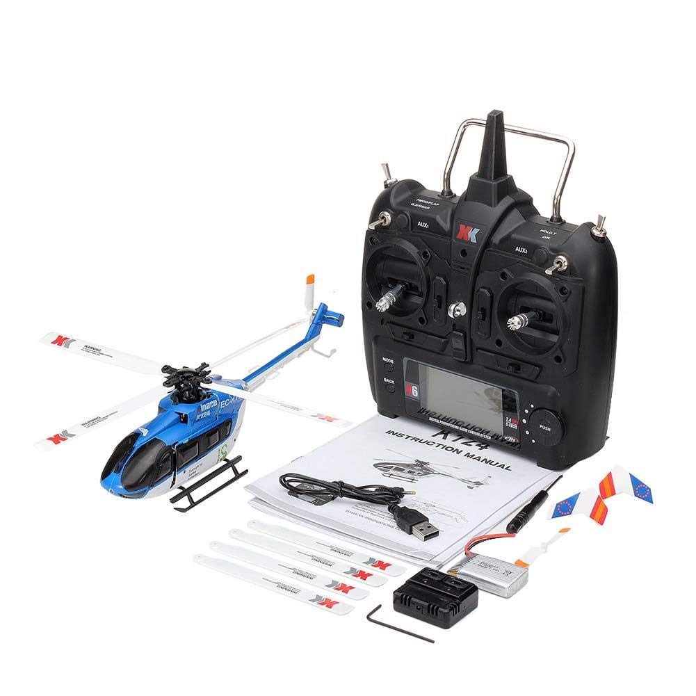 Luckycyc Children Remote Control Helicopter Toy, 2.4G XK K124 6CH Brushless EC145 3D6G System RC Helicopter RTF by Luckycyc (Image #1)