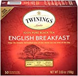 Twinings English Breakfast Tea 50 Count (Pack of 6)