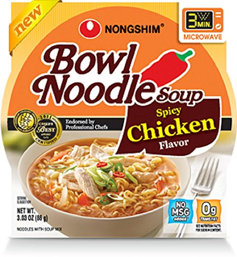 Price comparison product image NongShim Bowl Noodle Soup,  Spicy Chicken,  3.03 Ounce (Pack of 12)