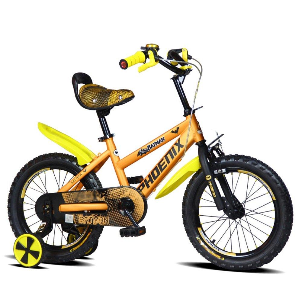 LVZAIXI キッズバイク、サイズ12インチ、14インチ、16インチ、レッド、ブルー、ゴールド (色 : ゴールド, サイズ さいず : 14 inch) B07D57DTC3 14 inch|ゴールド ゴールド 14 inch