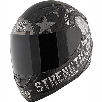Speed and Strength Moto Mercenary SS1100 - Casco de moto deportivo para hombre, color negro - negro - Large: Amazon.es: Ropa y accesorios