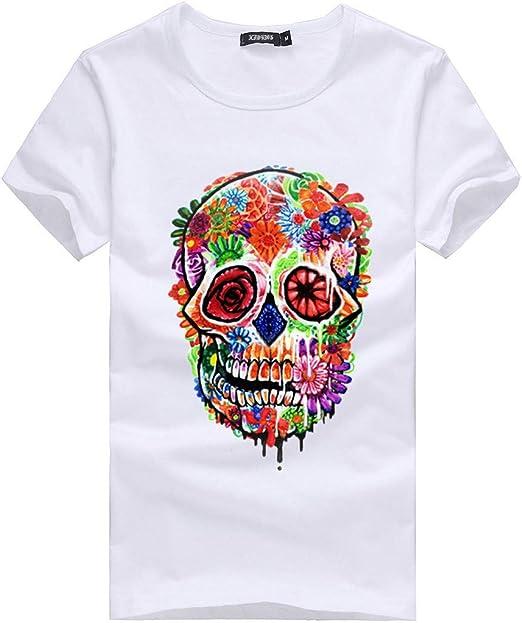 ACEBABY Camisetas Manga Corta Camisetas Estampadas Hombre y Mujer Camiseta Seleccion Española Originales, Adecuado para Fiestas de Fin de Semana y Uso Diario Blanco: Amazon.es: Ropa y accesorios