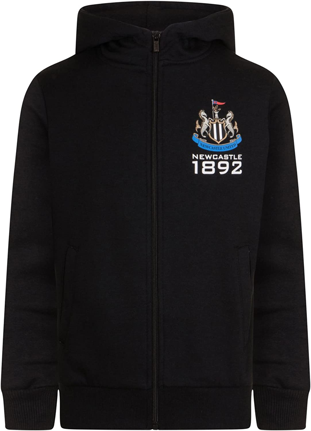 Newcastle United Football Club Official Soccer Gift Boys Fleece Zip Hoody