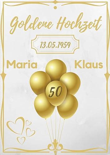 Hochwertiges Geschenk Zur Goldenen Hochzeit Bild Auf Dina4