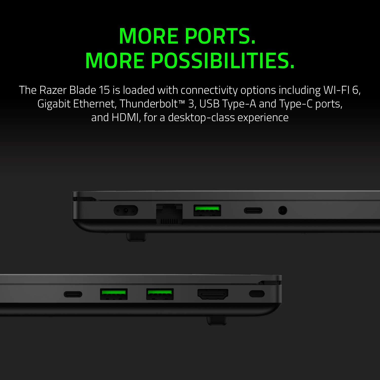 "Razer Blade 15 Base Gaming Laptop 2020: Intel Core i7-10750H 6-Core, NVIDIA GeForce GTX 1660 Ti, 15.6"" FHD 1080p 144Hz, 16GB RAM, 256GB SSD, CNC Aluminum, Chroma RGB Lighting, Thunderbolt 3, Black: Computers & Accessories"