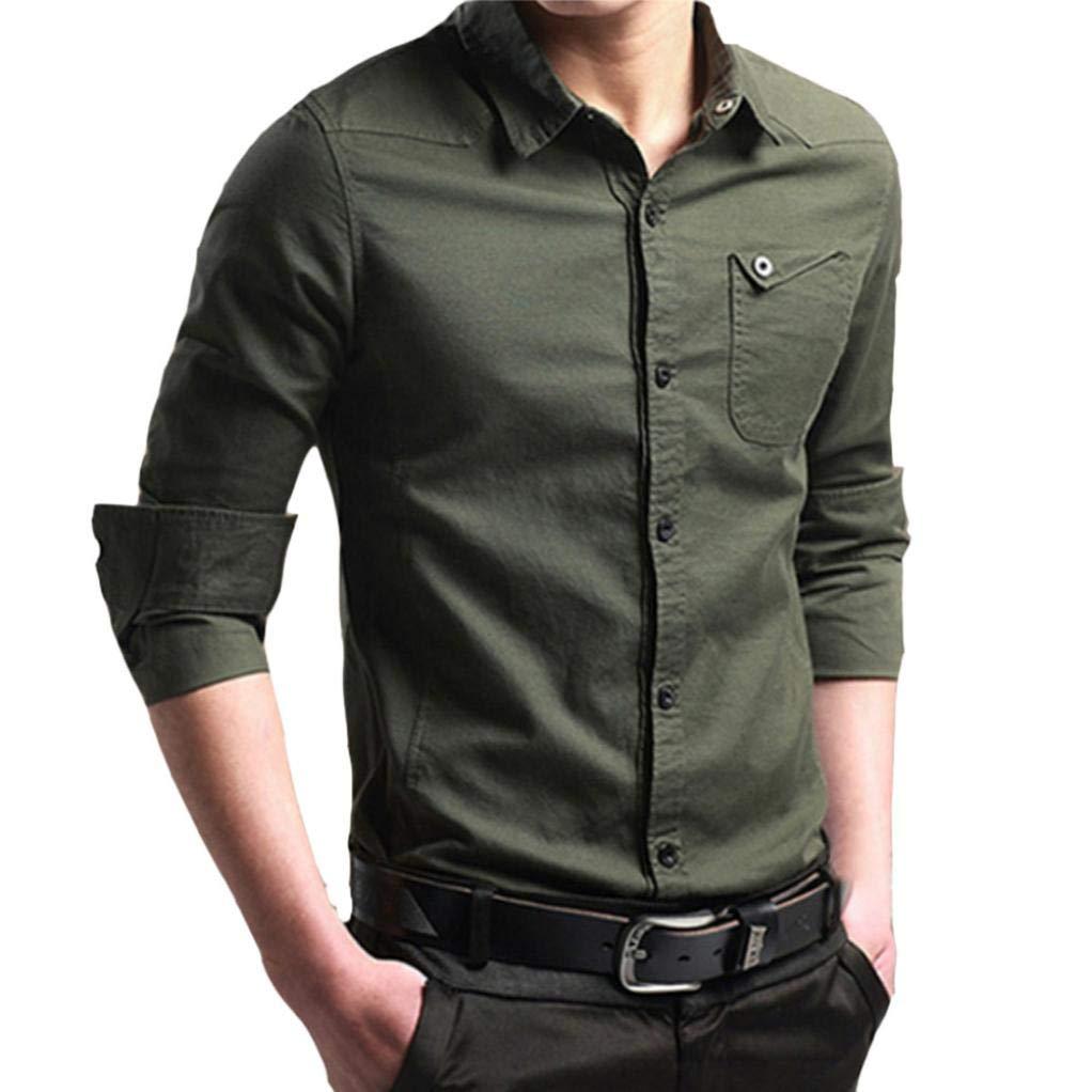 Camiseta Hombres, 2018 Moda Camisa Casual para Hombres Slim Fit Manga Corta Moda Negocio Elegante: Amazon.es: Ropa y accesorios