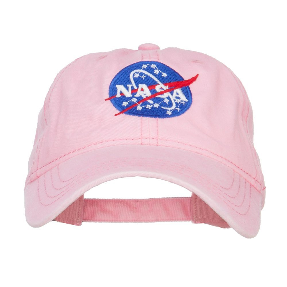 e4Hats.com NASA Insignia Embroidered Pigment Dyed Cap - Pink OSFM