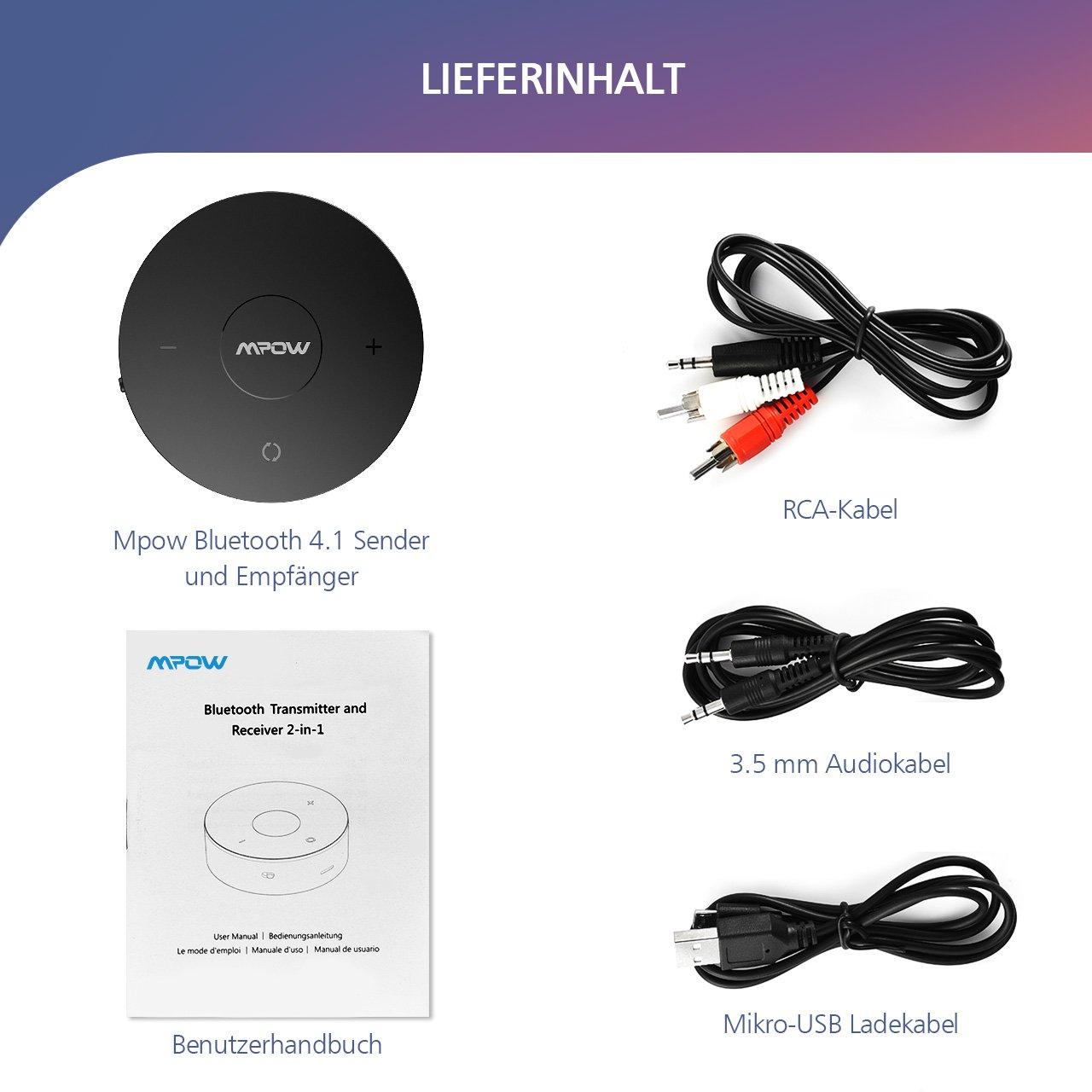 Mpow Bluetooth Transmitter und Empfänger,drahtlose: Amazon.de ...