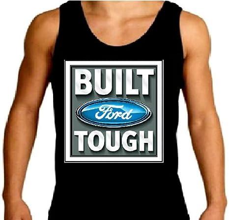 Men/'s tank top Built Ford Tough sleeveless tee black t-shirt