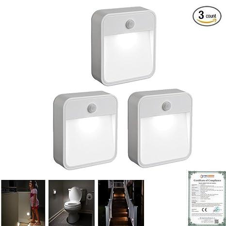Creencia inalámbrico Sensor de movimiento luz lámpara de noche LED funciona con pilas velas, montado