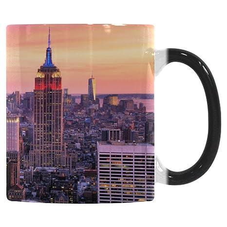 Interestprint Nyc New York City Skyline Morphing Mug Heat Sensitive