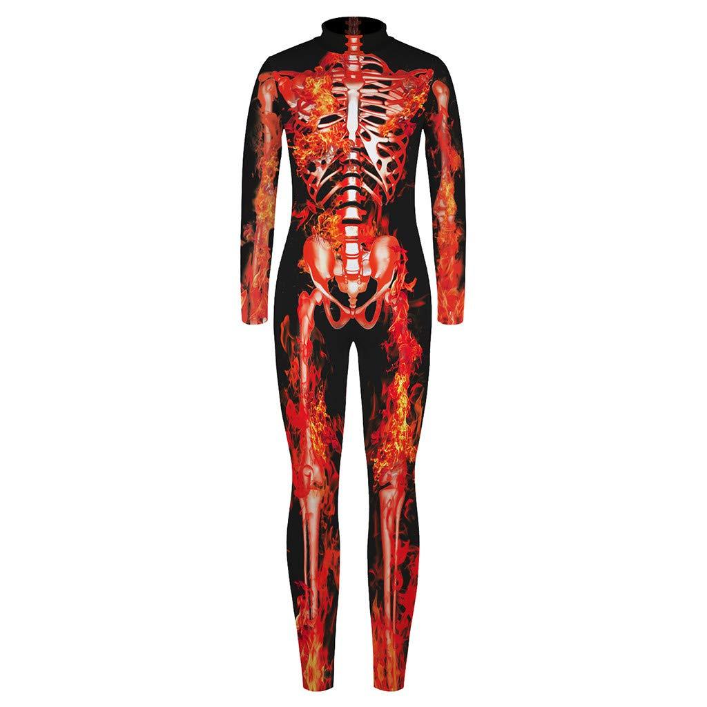 Subfamily Halloween Kost/üm Kinder Skelett Jumpsuits Jungen M/ädchen Unisex Overalls Maskerade Mottoparty Verkleiden Bodysuit