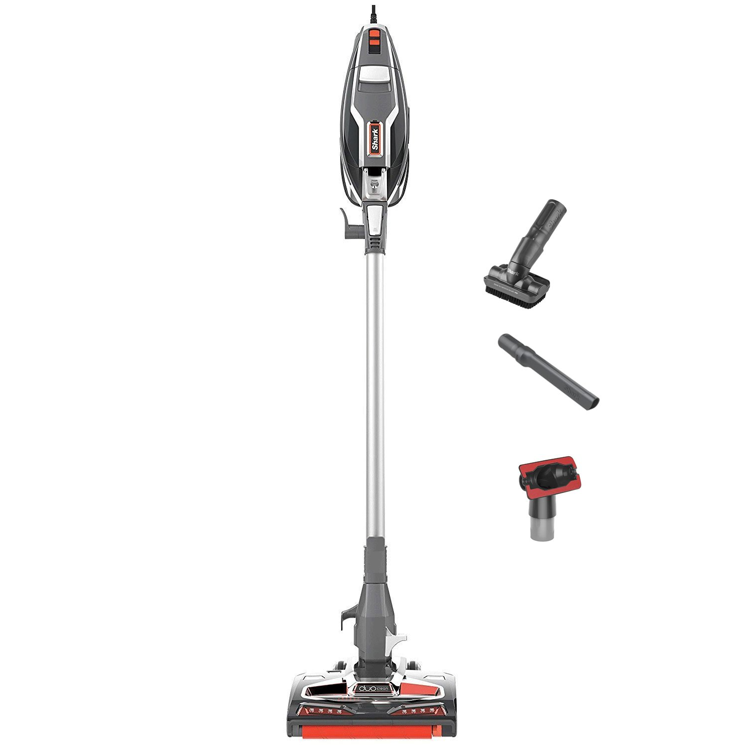 Shark Rocket Complete Upright Vacuum w/DuoClean HV380 (Renewed) (Silver)