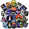 Stickers for Laptop [100PCS], Galaxy Vinyl Decals for Water Bottle Hydro Flask MacBook Car Bike Bumper Skateboard Luggage, Spacecraft Universe Planet Logo Graffiti Sticker