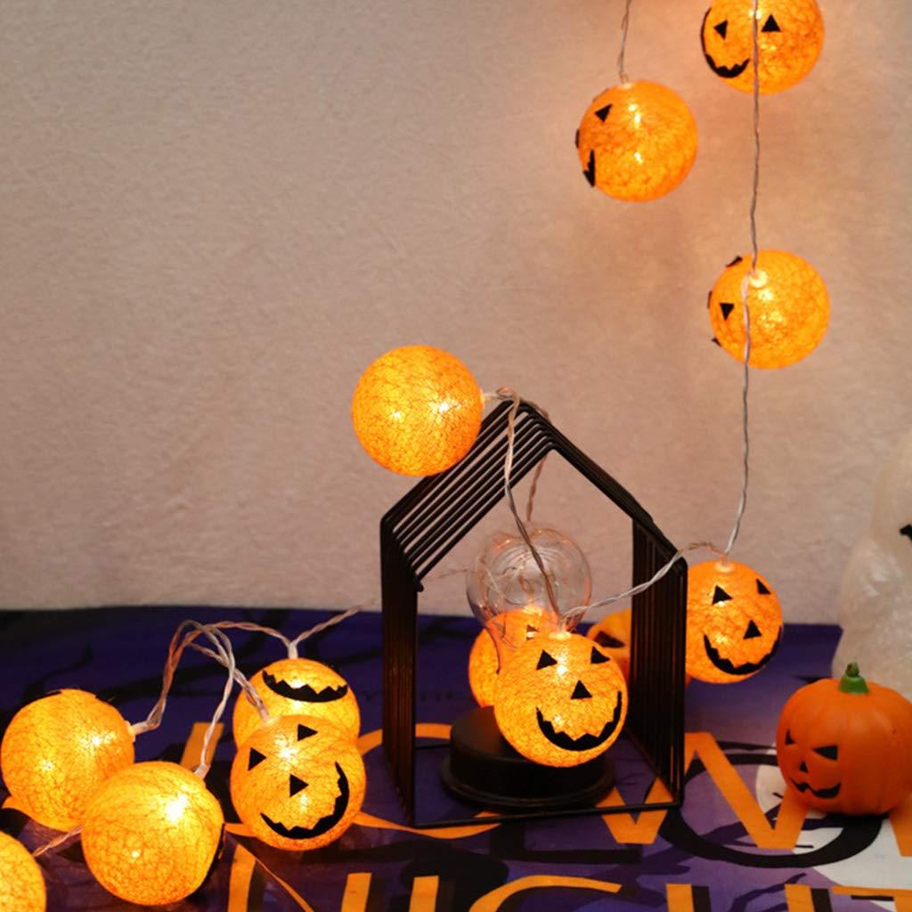 catyrre Halloween Interior Al Aire Libre Calabaza Smiley Line Bola Decoraci/ón Cadena Luz Elf Guirnalda Cadena Luz con Pilas Jard/ín de Halloween Inicio /Árbol de Navidad Decoraci/ón Iluminaci/ón