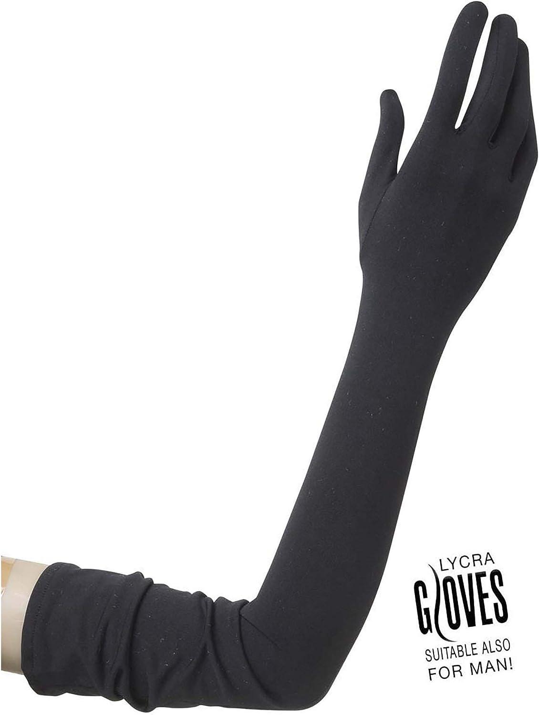 Net Black Lace Lycra /& Neon Gloves for Fancy Dress Costumes Accessory