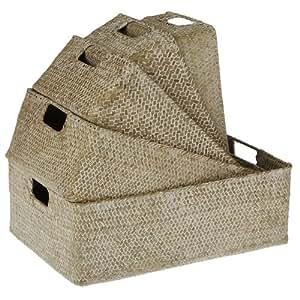 Portico - Set de 5 cestas rect.grass white xs(42-46)