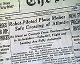 DOUGLAS C-54 SKYMASTER Transatlantic Airplane AUTOPILOT Flight 1947 Newspaper THE NEW YORK TIMES, September 23, 1947
