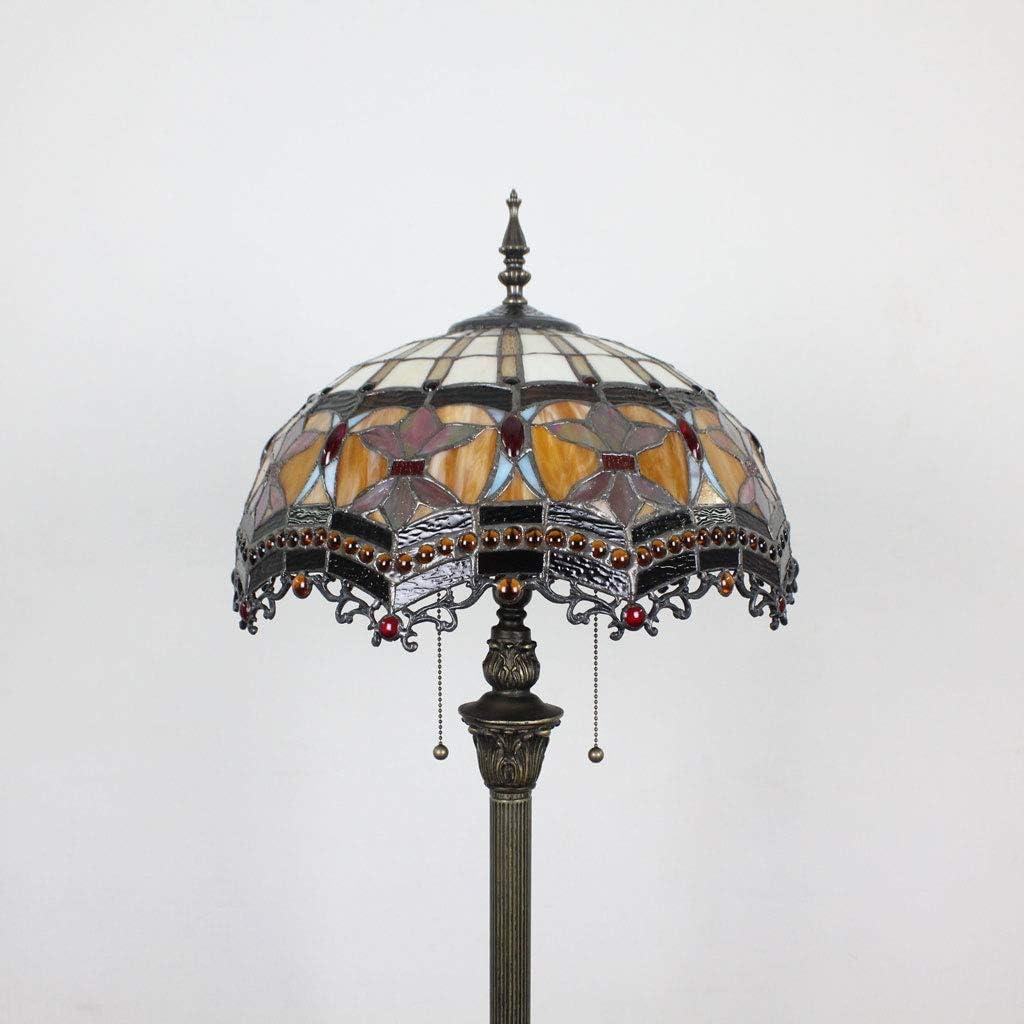 16 Zoll Barock Kreative Wohnzimmer Schlafzimmer Nachttischlampe Stehlampe Klassische Luxus Atmosph/ärische Stehlampe Moderne Hochzeit Lampe