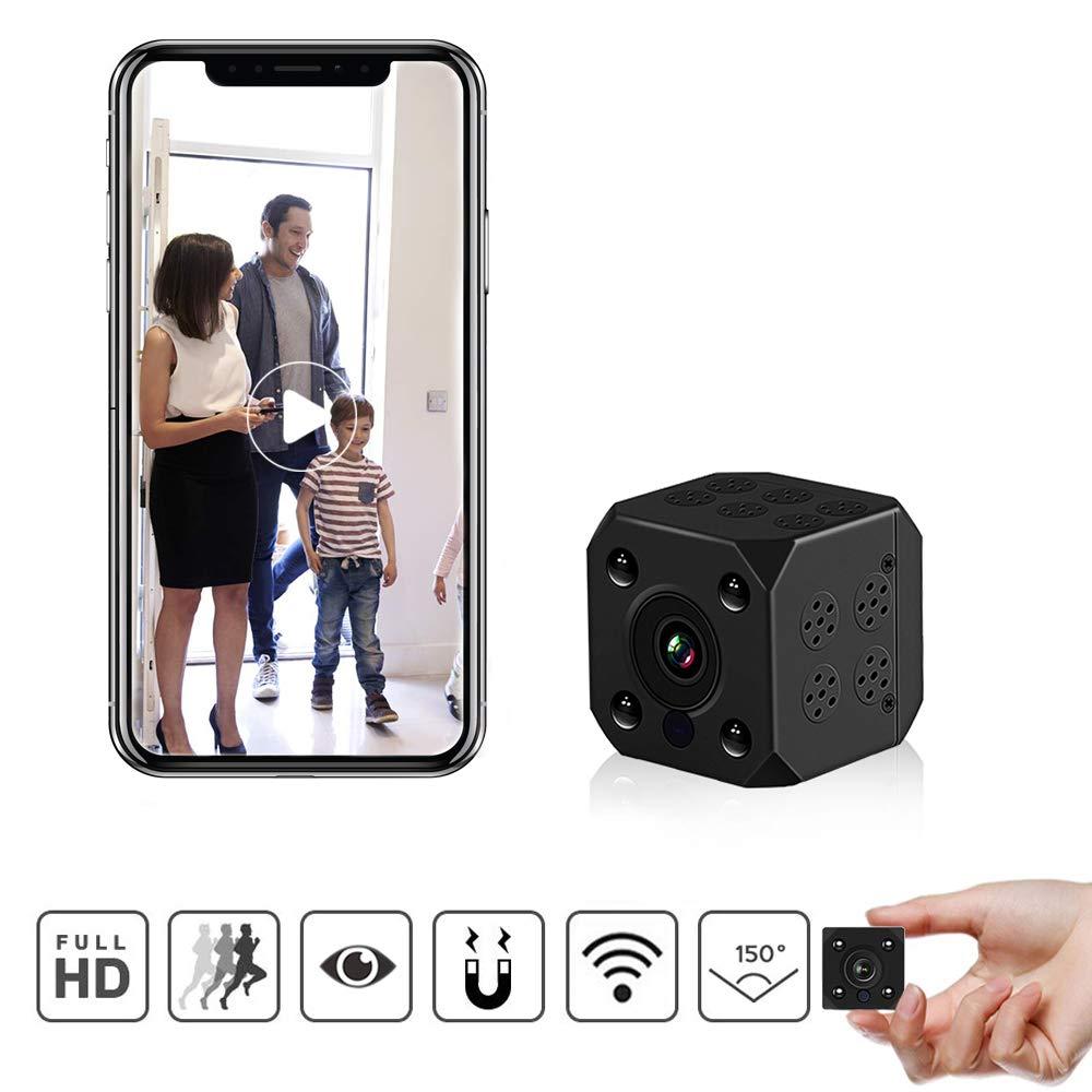 Cámaras espía, PiAEK 1080P HD Cámaras de vigilancia, Mini WiFi Cámara Oculta con Detector de Movimiento y IR Visión Nocturna product image