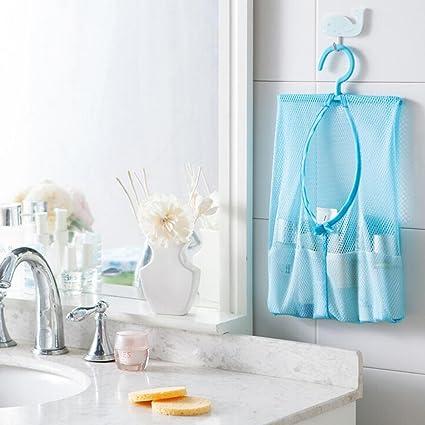 Evana 1Pcs Hang Mesh Bag Clothes Storage Laundry Net Travel Bags Hanging For  Bathroom Organizer Closet