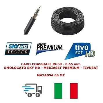 Mysmartshop - Bobina de cable coaxial de 60m y 0,65mm para