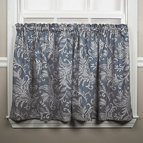 (Ellis Curtain Floating Leaves Tailored Tiers, 68
