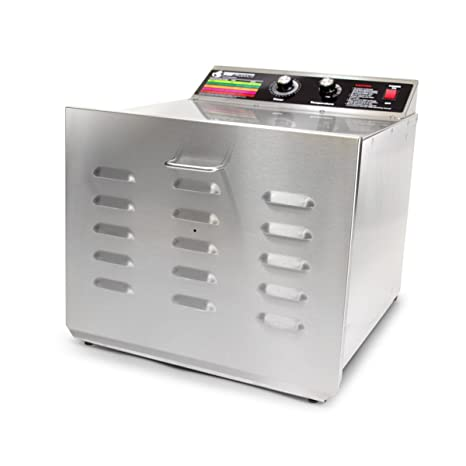 TSM Products Stainless Steel Food Dehydrator with 10 Stainless Steel Shelves