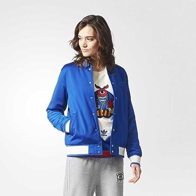 f722962c3720 adidas Originals Womens Embellished Arts Blue Tattoo Quilted Bomber Jacket  CV9425 (32)  Amazon.co.uk  Clothing