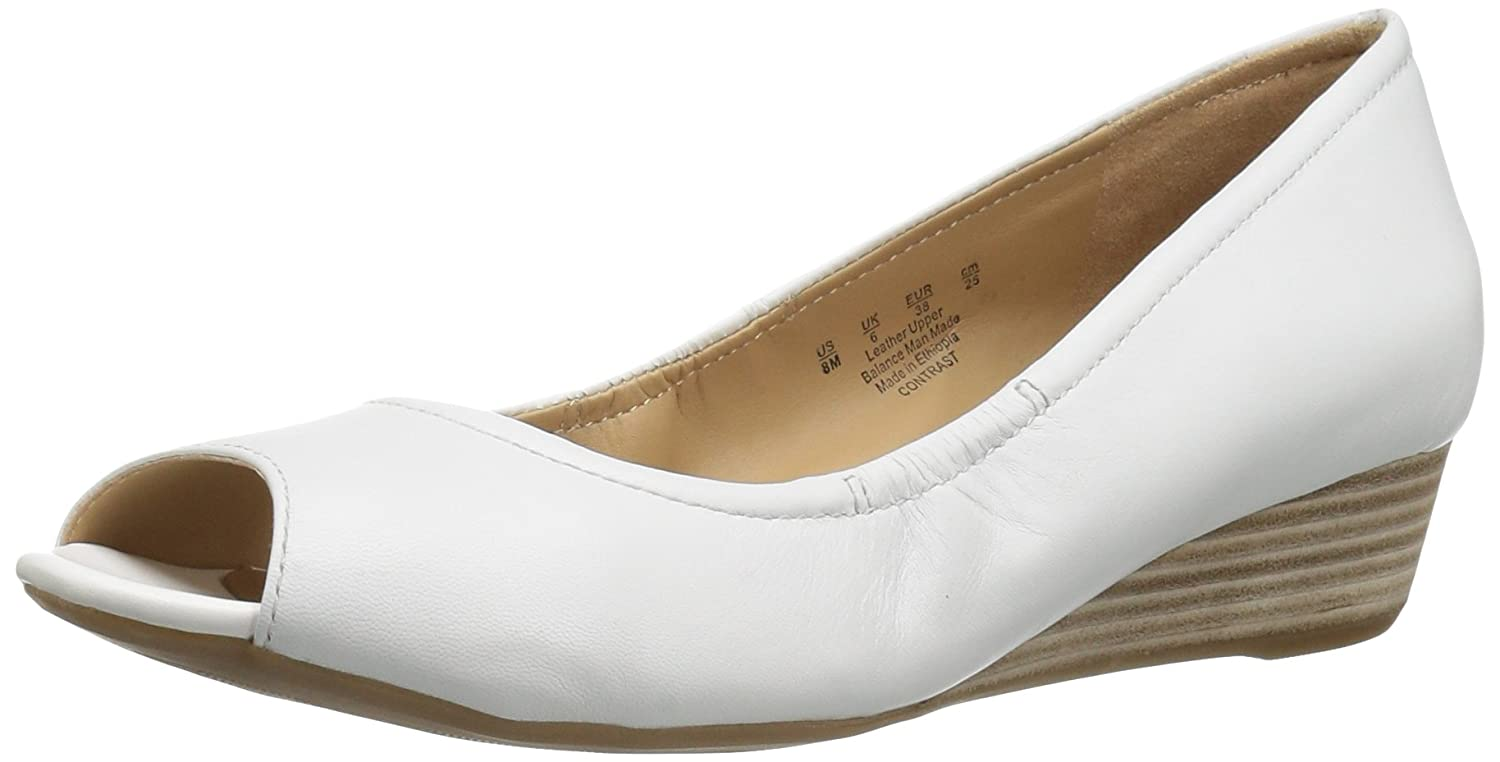 Naturalizer Women's Contrast Wedge Pump B01N3R6B6P 8 W US|White