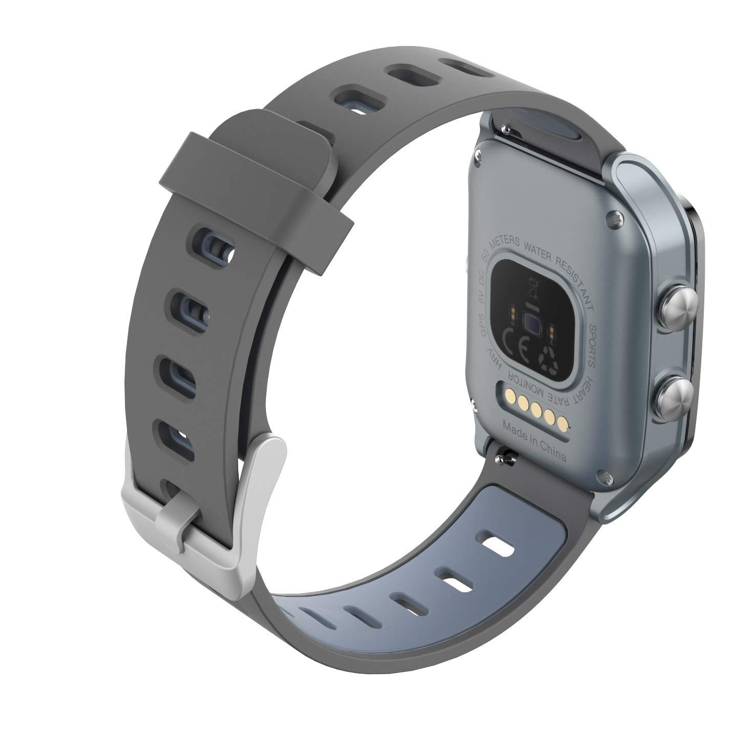 fb7da7811 Leotec GPS Total Heart II - Smartwatch, color gris: Amazon.es: Electrónica