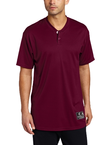 Easton Jersey Baseball - Easton Skinz 2 Button Placket Jersey, Maroon, XX-Large