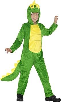 Smiffys Disfraz de cocodrilo, Verde, con Mono con Capucha y Cola ...