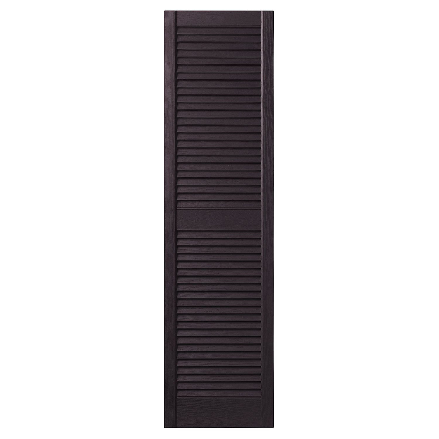 Ply Gem Shutters and Accents VINLV1547 IJ Louvered Shutter, 15'', Dark Berry by Ply Gem Shutters and Accents
