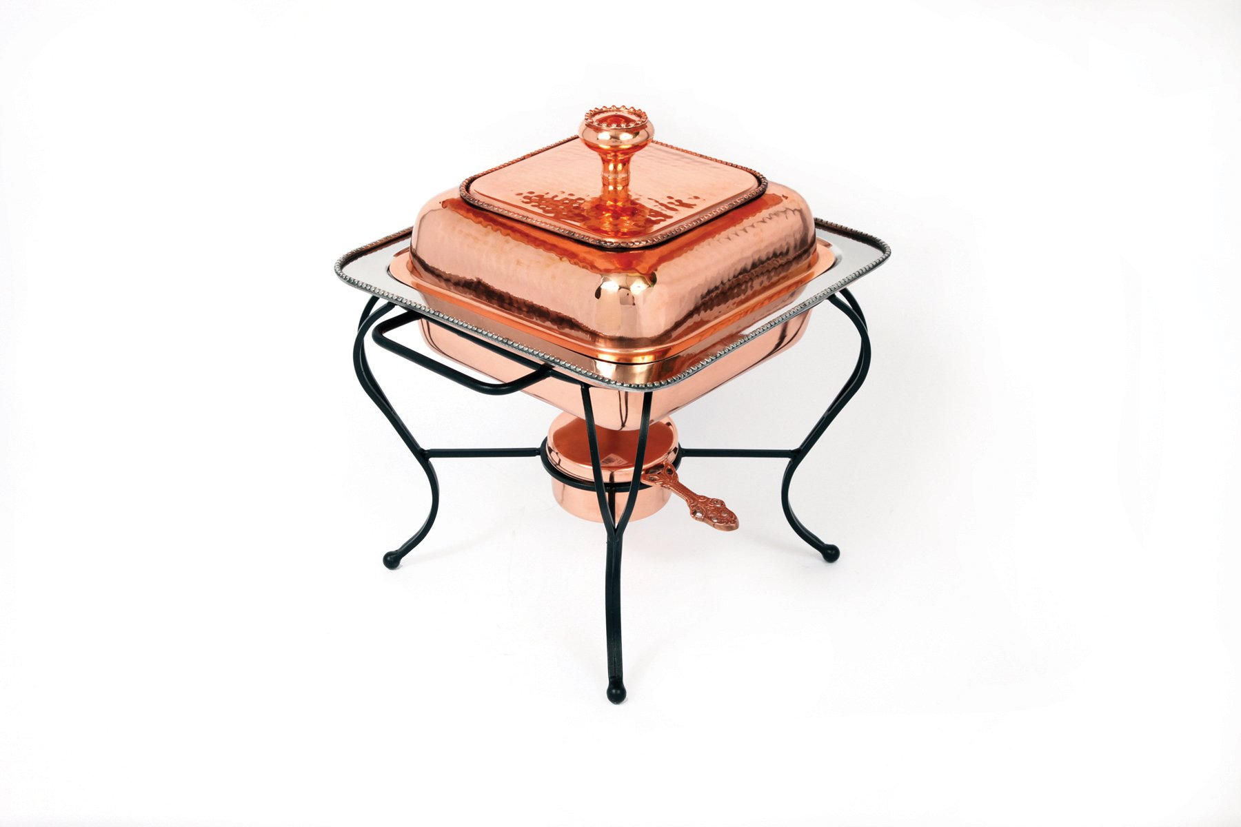 Star Home 2-Quart Square Copper Plated Chafing Dish