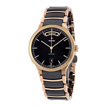 47da79e3d40db Image Unavailable. Image not available for. Color  Rado Centrix Black Dial  Rose Gold PVD and Ceramic Automatic Mens Watch R30158172