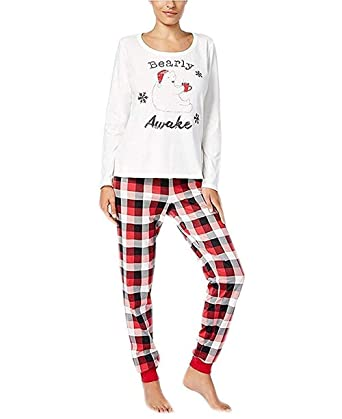 179d90f95335 Family Pajamas Women s Buffalo Plaid Bearly Awake Pajama Set at ...