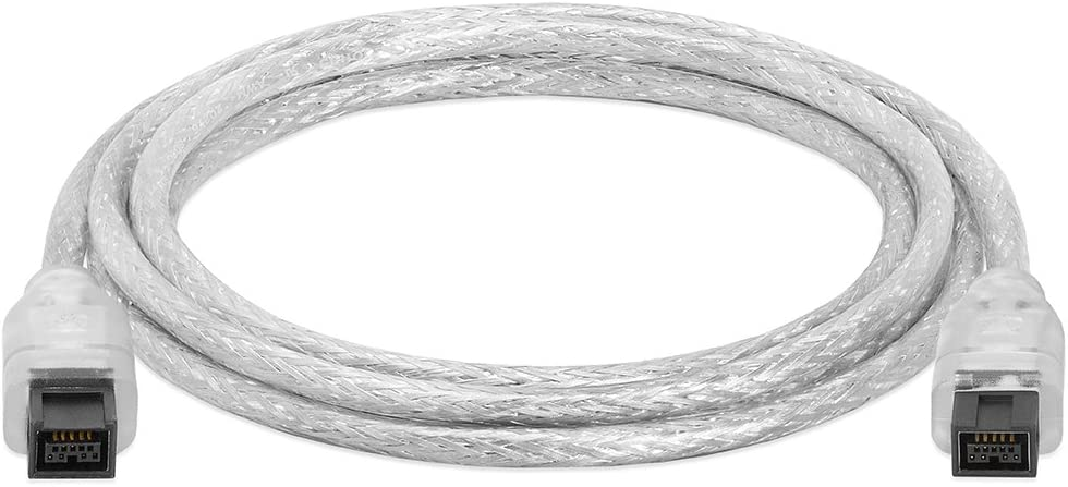 Cmple - 6FT FireWire 800 BETA 9-Pin/9-Pin - IEEE 1394b High Speed Firewire 9 Pin to 9 Pin Cable for MacBook Pro, Computer Laptop PC to JVC Sony Camcorder - 6 Feet Clear