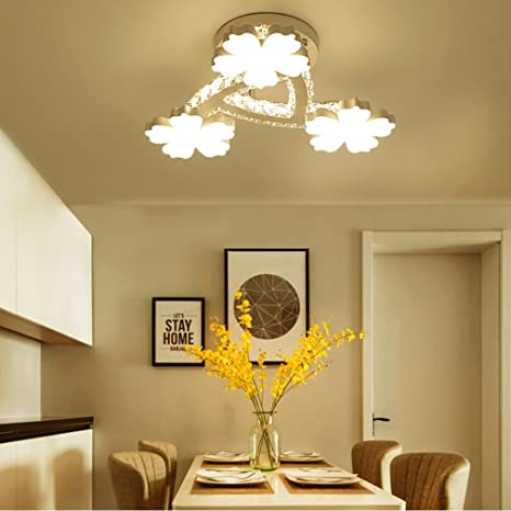Lámpara de Techo LED 40W Moderna Flor Creativa Clásica ...
