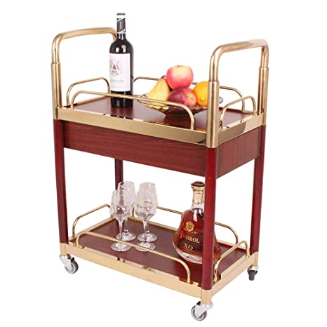 Amazon.com - Zxcvlina-JJ Kitchen Storage Serving cart Bar ...