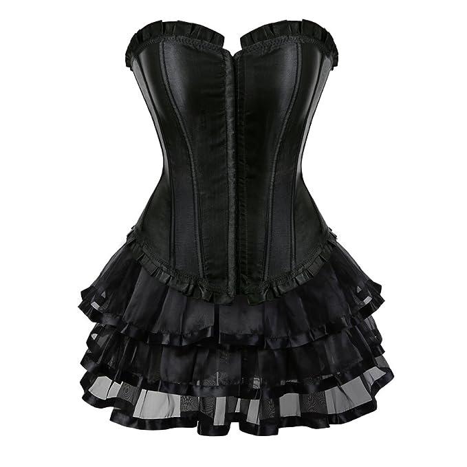Amazon.com: frawirshau Falda de corsé gótica para Halloween ...