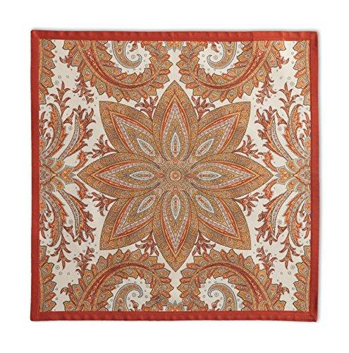 Maison d' Hermine Kashmir Paisley 100% Cotton Set of 4 Napkins, 20 - inch by 20 - inch. by Maison d' Hermine