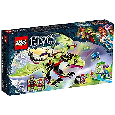 LEGO Elves The Goblin King's Evil DRAGON 41183 Building Kit (339 Pieces): Toys & Games