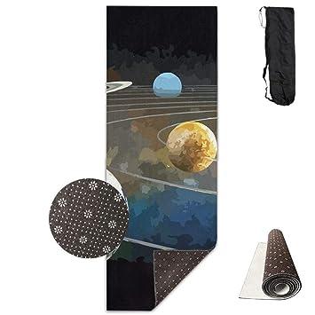 Amazon.com : wenhuamucai Cosmic Planet Yoga Mat - Advanced ...