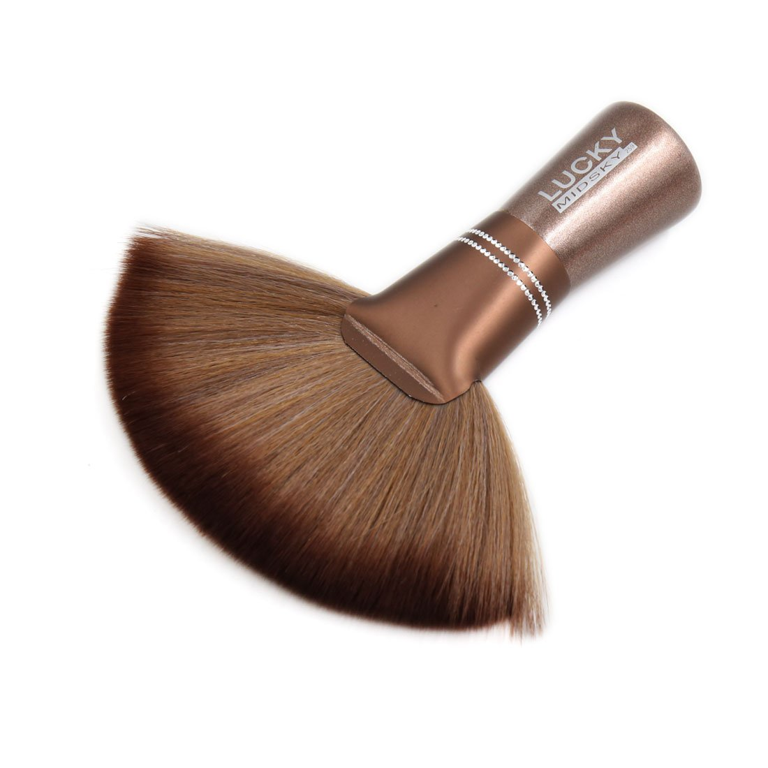 Sourcingmap Brown Soft Fiber Neck Duster Salon Stylist Barber Brush Hair Cutting Cleaning Tool a17022400ux0273